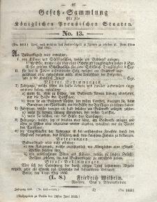 Gesetz-Sammlung für die Königlichen Preussischen Staaten, 29. Juni 1835, nr. 13.