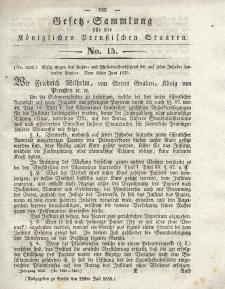 Gesetz-Sammlung für die Königlichen Preussischen Staaten, 25. Juli 1835, nr. 15.