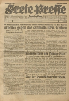Freie Presse, Nr. 33 Sonnabend 8. Februar 1930 6. Jahrgang