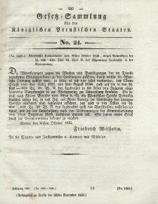 Gesetz-Sammlung für die Königlichen Preussischen Staaten, 21. November 1835, nr. 24.