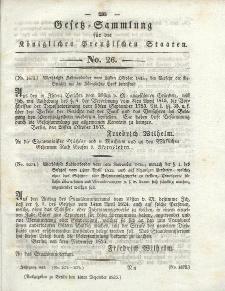Gesetz-Sammlung für die Königlichen Preussischen Staaten, 10. Dezember 1835, nr. 26.