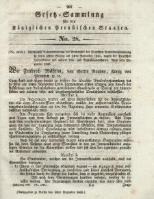 Gesetz-Sammlung für die Königlichen Preussischen Staaten, 18. Dezember 1835, nr. 28.