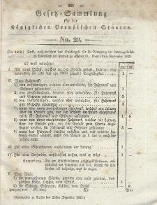 Gesetz-Sammlung für die Königlichen Preussischen Staaten, 28. Dezember 1835, nr. 29.