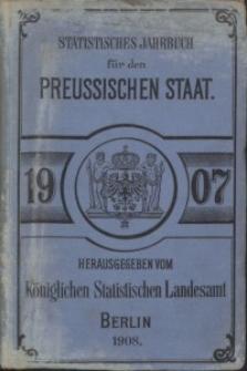 Statistisches Jahrbuch für den Preussischen Staat, 5. Jahrgang 1907