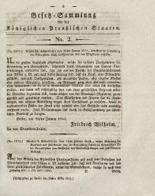 Gesetz-Sammlung für die Königlichen Preussischen Staaten, 26. März 1831, nr. 2.