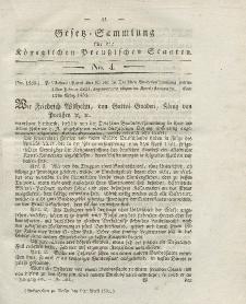 Gesetz-Sammlung für die Königlichen Preussischen Staaten, 9. April 1831, nr. 4.