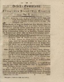 Gesetz-Sammlung für die Königlichen Preussischen Staaten, 23. April 1831, nr. 5.