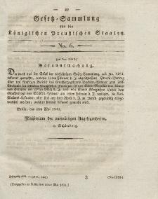 Gesetz-Sammlung für die Königlichen Preussischen Staaten, 10. Mai 1831, nr. 6.