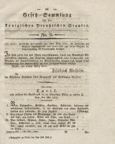 Gesetz-Sammlung für die Königlichen Preussischen Staaten, 8. Juli 1831, nr. 9.