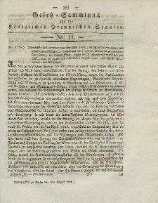 Gesetz-Sammlung für die Königlichen Preussischen Staaten, 9. August 1831, nr. 11.