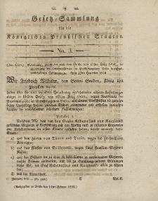 Gesetz-Sammlung für die Königlichen Preussischen Staaten, 14. Februar 1832, nr. 3.