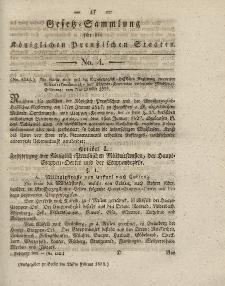 Gesetz-Sammlung für die Königlichen Preussischen Staaten, 25. Februar 1832, nr. 4.