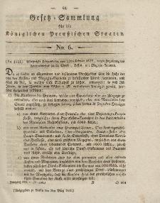 Gesetz-Sammlung für die Königlichen Preussischen Staaten, 3. März 1832, nr. 6.
