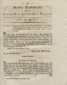 Gesetz-Sammlung für die Königlichen Preussischen Staaten, 8. Mai 1832, nr. 10.
