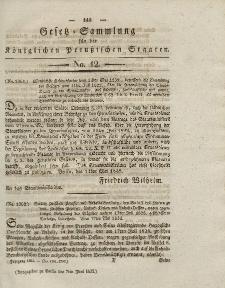 Gesetz-Sammlung für die Königlichen Preussischen Staaten, 7. Juni 1832, nr. 12.