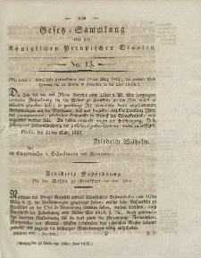 Gesetz-Sammlung für die Königlichen Preussischen Staaten, 30. Juni 1832, nr. 13.