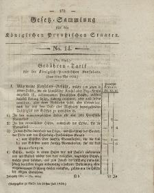 Gesetz-Sammlung für die Königlichen Preussischen Staaten, 20. Juli 1832, nr. 14.