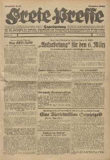 Freie Presse, Nr. 38 Freitag 14. Februar 1930 6. Jahrgang