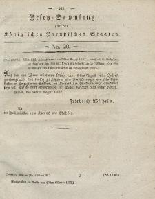 Gesetz-Sammlung für die Königlichen Preussischen Staaten, 20. Oktober 1832, nr. 20.