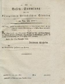 Gesetz-Sammlung für die Königlichen Preussischen Staaten, 31. Dezember 1832, nr. 22.