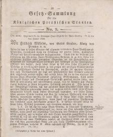 Gesetz-Sammlung für die Königlichen Preussischen Staaten, 16. Februar 1836, nr. 3.