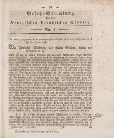Gesetz-Sammlung für die Königlichen Preussischen Staaten, 16. Februar 1836, nr. 4.