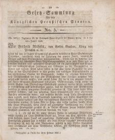 Gesetz-Sammlung für die Königlichen Preussischen Staaten, 16. Februar 1836, nr. 5.