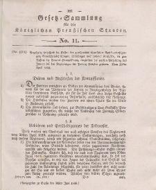 Gesetz-Sammlung für die Königlichen Preussischen Staaten, 30. Juni 1836, nr. 11.