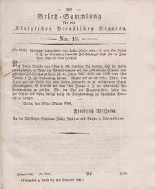 Gesetz-Sammlung für die Königlichen Preussischen Staaten, 3. November 1836, nr. 18.