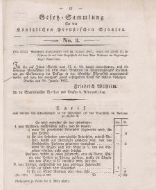 Gesetz-Sammlung für die Königlichen Preussischen Staaten, 2. März 1837, nr. 3.