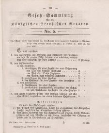 Gesetz-Sammlung für die Königlichen Preussischen Staaten, 5. April 1837, nr. 5.