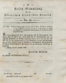 Gesetz-Sammlung für die Königlichen Preussischen Staaten, 11. Dezember 1837, nr. 21.