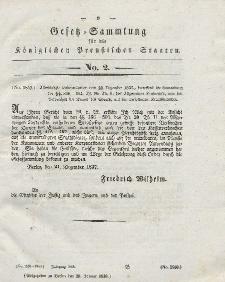 Gesetz-Sammlung für die Königlichen Preussischen Staaten, 29. Januar 1838, nr. 2.