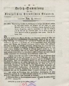 Gesetz-Sammlung für die Königlichen Preussischen Staaten, 15. Februar 1838, nr. 4.