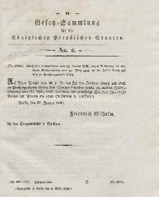 Gesetz-Sammlung für die Königlichen Preussischen Staaten, 6. März 1838, nr. 6.
