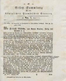 Gesetz-Sammlung für die Königlichen Preussischen Staaten, 13. März 1838, nr. 7.