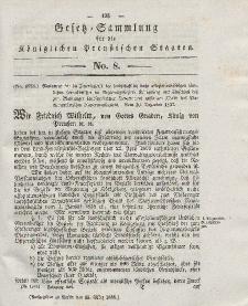 Gesetz-Sammlung für die Königlichen Preussischen Staaten, 13. März 1838, nr. 8.