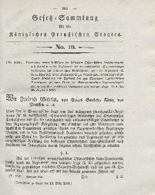 Gesetz-Sammlung für die Königlichen Preussischen Staaten, 13. März 1838, nr. 10.