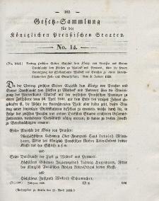 Gesetz-Sammlung für die Königlichen Preussischen Staaten, 17. April 1838, nr. 14.