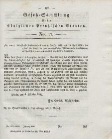 Gesetz-Sammlung für die Königlichen Preussischen Staaten, 30. Mai 1838, nr. 17.
