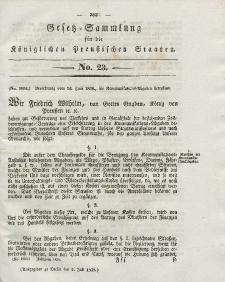 Gesetz-Sammlung für die Königlichen Preussischen Staaten, 2. Juli 1838, nr. 23.