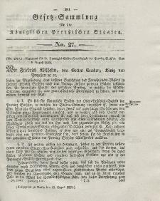 Gesetz-Sammlung für die Königlichen Preussischen Staaten, 17. August 1838, nr. 27.