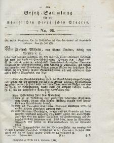 Gesetz-Sammlung für die Königlichen Preussischen Staaten, 4. September 1838, nr. 29.