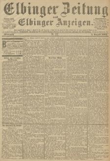 Elbinger Zeitung und Elbinger Anzeigen, Nr. 177 Mittwoch 1. August 1894