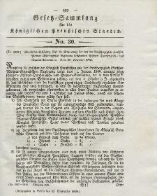Gesetz-Sammlung für die Königlichen Preussischen Staaten, 15. September 1838, nr. 30.