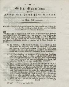 Gesetz-Sammlung für die Königlichen Preussischen Staaten, 20. Oktober 1838, nr. 32.