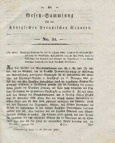 Gesetz-Sammlung für die Königlichen Preussischen Staaten, 23. November 1838, nr. 34.