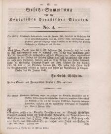 Gesetz-Sammlung für die Königlichen Preussischen Staaten, 14. Februar 1839, nr. 4.