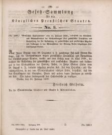 Gesetz-Sammlung für die Königlichen Preussischen Staaten, 18. April 1839, nr. 9.