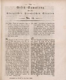 Gesetz-Sammlung für die Königlichen Preussischen Staaten, 22. April 1839, nr. 10.